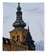 Green Tower Fleece Blanket