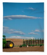 Green Tractor Fleece Blanket