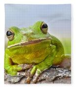 Green Treefrog Fleece Blanket
