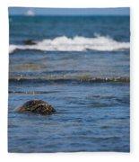 Green Turtle Surf Fleece Blanket