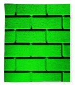 Green Wall Fleece Blanket