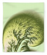 Green Wave Fleece Blanket