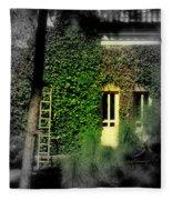 Green Window Fleece Blanket