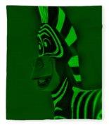 Green Zebra Fleece Blanket