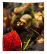 Greenbriar Leaf And Wintergreen Seedpod Fleece Blanket