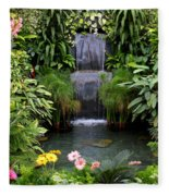 Greenhouse Garden Waterfall Fleece Blanket