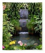 Greenhouse Garden Waterfall Fleece Blanket