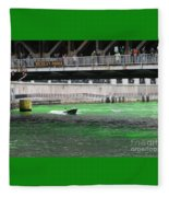 Greening The Chicago River Fleece Blanket