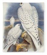 Greenland Falcon Fleece Blanket
