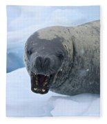 Greetings From Antarctica.. Fleece Blanket