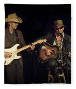 Greg Brown And Bo Ramsey In Concert Fleece Blanket