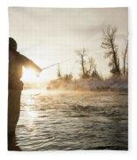 Greg Houska Fly Fishing On The Provo Fleece Blanket
