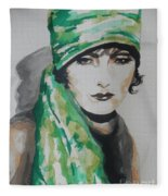 Greta Garbo Fleece Blanket