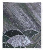 Grey Rain 2 By Jrr Fleece Blanket