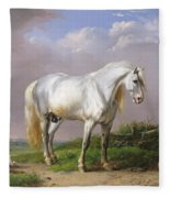 Grey Stallion Fleece Blanket