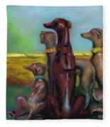 Greyhound Figurines Fleece Blanket