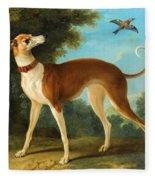 Greyhound In A Landscape Fleece Blanket