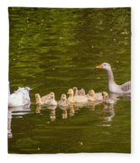 Greylag Goose Family Fleece Blanket