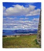Grianan Of Aileach View Fleece Blanket