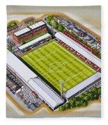 Griffin Park - Brentford Fc Fleece Blanket