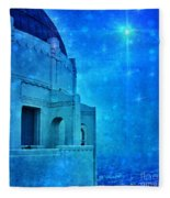 Griffith Park Observatory At Night Fleece Blanket