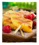 Grilled Pineapple  Fleece Blanket