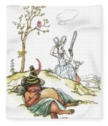 Grimm: Wolf And Seven Kids Fleece Blanket