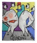 Grinding Teeth Fleece Blanket