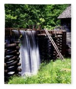 Grist Mill And Water Trough Fleece Blanket