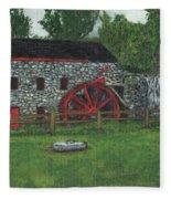 Grist Mill At Wayside Inn Fleece Blanket