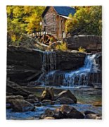 Grist Mill In Babcock State Park West Virginia Fleece Blanket