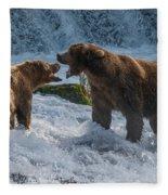 Grizzlies Fighting Fleece Blanket