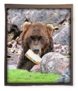 Grizzly Bear 01 Fleece Blanket