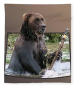 Grizzly Bear 6 Out Of Bounds Fleece Blanket