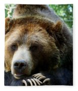 Grizzly Bear At Rest In Colorado Wildneress Fleece Blanket