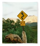 Grizzly Cubs Fleece Blanket