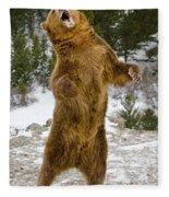Grizzly Standing Fleece Blanket