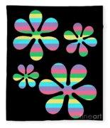 Groovy Flowers 4 Fleece Blanket