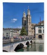 Grossmuenster Zurich Fleece Blanket