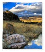 Grosvenor Hills 17 Miles North Of Mexico Fleece Blanket