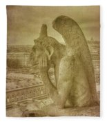 Grotesque From Notre Dame Fleece Blanket