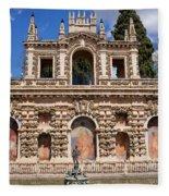 Grotesque Gallery In Real Alcazar Of Seville Fleece Blanket
