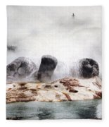 Grotto Geyser Yellowstone National Park Fleece Blanket