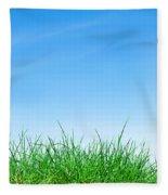 Ground Grass And Sky Fleece Blanket