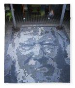 ground mosaic in the cultural center of Granada Nicaragua Fleece Blanket