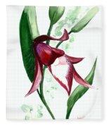Ground Orchid Fleece Blanket