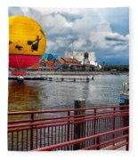 Grounded By The Storm Balloon Ride Walt Disney World Fleece Blanket