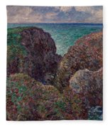 Group Of Rocks At Port Goulphar Fleece Blanket
