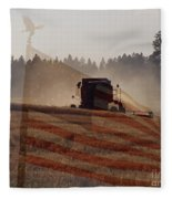 Grown In America Fleece Blanket