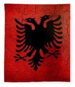 Grunge Albania Flag Fleece Blanket